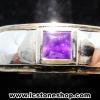 แหวนเงินแท้ 925 พลอยแซฟไฟร์สีม่วง (purple sapphire) (แหวนเบอร์ : 52)