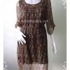 """Dress0078--เดรสแฟชั่น นำเข้า สไตล์วินทจ """"อก 38 นิ้ว"""""""