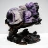 ปี่เซียะแกะจากเซฟรอนอเมทิสต์ Chevron Amethyst (3.76Kg)