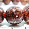 สร้อยหิน ไหมนาค-Copper Rutillated Quartz (12.5mm.)