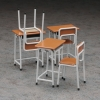 1/12 Accessory for Posable Figures - School Desks and Chairs Plastic Model(Pre-order)