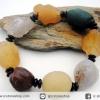 สร้อยข้อมือ อาเกตทะเลทรายโกบี (Gobi Agate) 113g