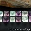 ▽หินฟลูออไรต์ (Fluorite) ธรรมชาติทรงพีระมิคคู่ 12 ชิ้น(31g)