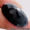 พลอยนิลทรงรี (Black Spinel) - 44.55ct.