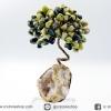 ต้นไม้มงคล หินเซอร์เพนไทน์ SERPENTINE -ฐานควอตซ์ ใช้เสริมฮวงจุ้ย โต๊ะทำงาน (124g)