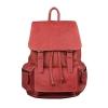 RV-8670 กระเป๋าเป้ หนังนูบัค สีแดง