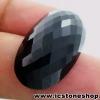 พลอยนิล (Black Spinel)ทรงรี มีตำหนิ - 38.85ct.