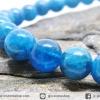▽สร้อยหิน อะพาไทต์ (Blue Apatite) 7mm.