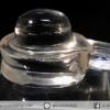 ควอตซ์ใสแกะรูปศิวลิงค์คัม พร้อมฐานกระจก (8g)