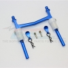 ALUMINIUM REAR BODY POST WITH CLIP & MOUNT - 1PC SET