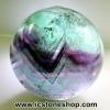 ▽ฟลูออไรต์ (Fluorite) ทรงบอล หินทรงกลม 3.5 cm