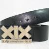 เข็มขัดหนังแท้ XIX (X Chromosome in X) สีดำ สภาพดีมาก