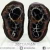 เซ็ปแทเรี่ยน Septarian ผ่าครึ่งขนาดตั้งโต๊ะพร้อมฐานแก้ว(273g)
