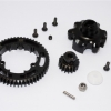 ALUMINIUM GEAR ADAPTER+STEEL SPUR GEAR 53T+MOTOR GEAR 17T - 1SET