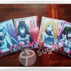Infinite Stratos Clear file Set of 4 Prize G