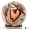 เรดซิลเวอร์ลีฟแจสเปอร์ Red Silver Leaf Jasper ทรงบอล หินทรงกลม 4 cm.