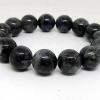 สร้อยข้อมือ ไหมดำ-แก้วขนเหล็ก (Black Rutilliated Quartz) 14mm