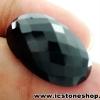 พลอยนิล (Black Spinel)ทรงรี มีตำหนิ - 37.05ct.