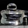 ควอตซ์ใสแกะรูปศิวลิงค์คัม พร้อมฐานกระจก (11.5g)