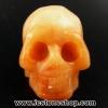 อเวนจูรีนส้มรูปกะโหลก Orange Aventurine (40g)