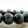▽สร้อยข้อมือโกลเด้น ออบซิเดียน (Golden Obsidian) 8mm.