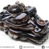 หินตาอาเกต-หัวมังกร มีเจาะรูทะลุ(Eye Agate) (35g)