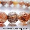สร้อยหิน ไหมนาค-Copper Rutillated Quartz (8.5mm.)