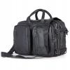 GT-7014 A กระเป๋าหนังแท้ 3สไตล์ สะพายข้าง/ถือ/เป้ สีดำ