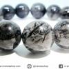 ▽สร้อยข้อมือ ไหมดำ-แก้วขนเหล็ก (Black Rutilliated Quartz) 14mm
