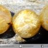 สร้อยข้อมือ ไหมทองเกรด A (Rutilated Quartz ) 10 mm.