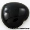 พลอยนิลทรงหัวใจ (Black Spinel) - 37.8ct.