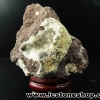 ชาบาไซท์ (chabazite) New Mexico ตั้งโต๊ะ ฐานไม้ (74g)