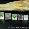 ▽หินฟลูออไรต์ (Fluorite) ธรรมชาติทรงพีระมิคคู่ 6 ชิ้น(30g)