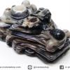 หินตาอาเกต-หัวมังกร มีเจาะรูทะลุ(Eye Agate) (28g)