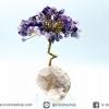 ต้นไม้มงคล หินอเมทิสต์-ฐานควอตซ์ ใช้เสริมฮวงจุ้ย โต๊ะทำงาน (115g)