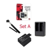 Set A (Battery+Dual Charger+Monopod Selfie+Kingston32Gb