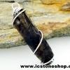 ▽จี้สโมกี้ควอตซ์สีเข้ม black smokey quartz (4.3g)