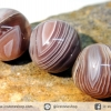 สร้อยหิน บอตสวานาอาเกต ( Botswana Agate ) 12mm.