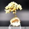 ต้นไม้หินมงคล ซิทรินฐานควอตซ์ เสริมการเงิน ความสำเร็จ ใช้เสริมฮวงจุ้ย โต๊ะทำงาน