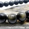 ▽สร้อยข้อมือโกลเด้น ออบซิเดียน (Golden Obsidian) 9mm.