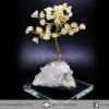 ต้นไม้มงคล ซิทริน ฐานควอตซ์ ใช้เสริมฮวงจุ้ย โต๊ะทำงาน (312g)