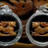 สิงห์งาแกะ เก่าศิลป์หลวงพ่อเดิม ไม่ทราบเกจิ เลี่ยมเงินยกซุ้ม สวยๆ