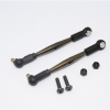 SPRING STEEL FRONT UPPER TIE ROD WITH PLASTIC ENDS - 1PR SET