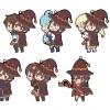 KonoSuba 2 - CharaRIDE Seoware Megumin Rubber Strap 7Pack BOX(Pre-order)