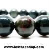 ▽สร้อยหิน หินเลือด (Blood stone)8mm.