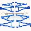 ALUMINIUM FRONT+REAR UPPER & LOWER SUSPENSION ARM - 8PCS SET (FOR E-REVO 560871, REVO, SUMMIT)