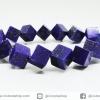 สร้อยหิน ลาพิส ลาซูลี่ ทรงลูกบาศก์ (Lapis Lazuli) 9mm.