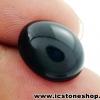 พลอยนิลทรงรี (Black Spinel) - 10.5ct.