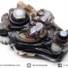 หินตาอาเกต-หัวมังกร มีเจาะรูทะลุ(Eye Agate) (24g)