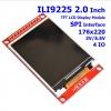 ILI9225 2.0 Inch TFT Display Module SPI Interface 176x220